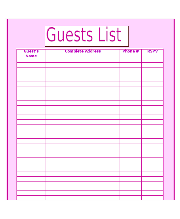 guest list printable   Yelom.agdiffusion.com