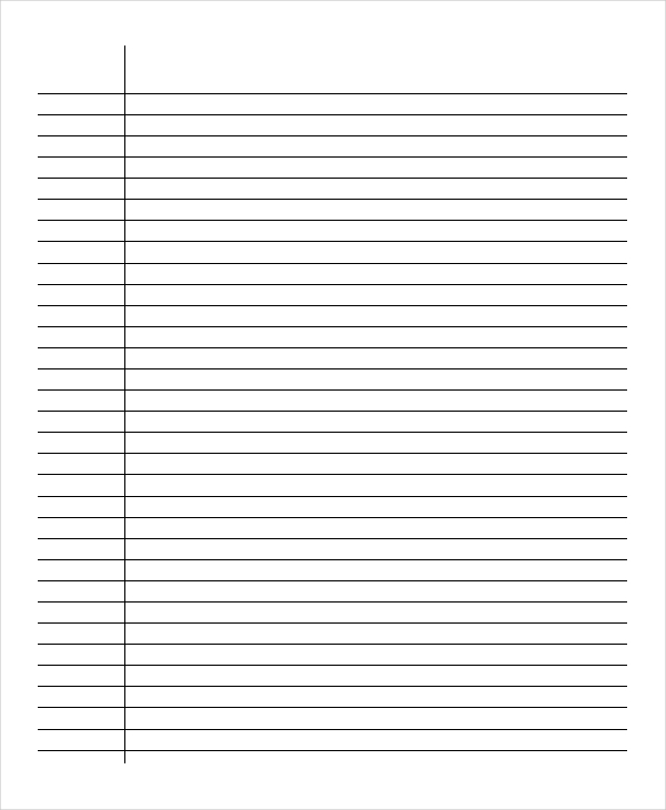 Free lined paper printables. Many styles. Low vision writing paper