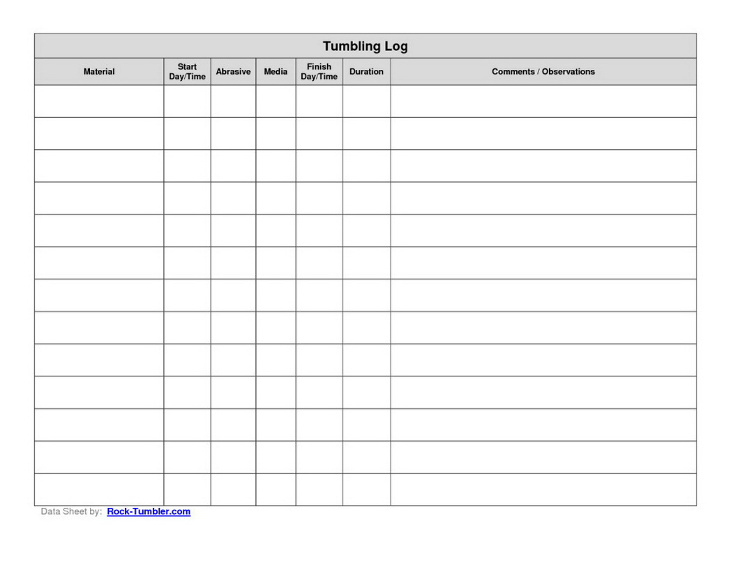 Basic Log Sheet   OpenOffice template