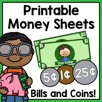 Printable Money Sheets   Classroom Economy by Amanda's Little Learners