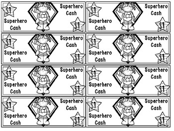 Superhero Cash | Printable Classroom Money Behavior Incentive Pack