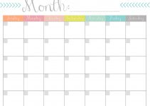 printable monthly calender 11 x 14 printable monthly calendar