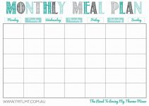 printable monthly meal planner monthly meal plan 2 fb