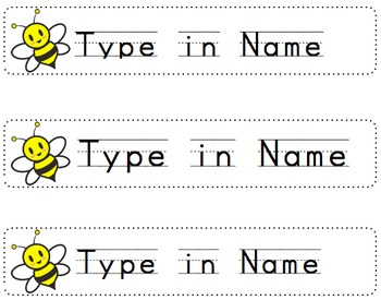 FREE** Bumblebee Name Tags for Desk   Editable/Printable by Mrs