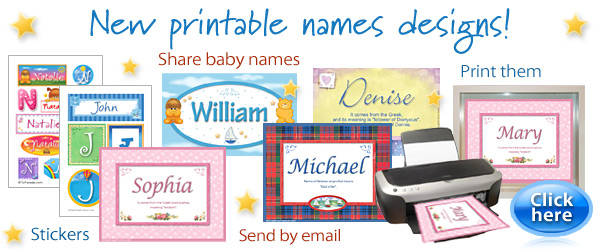 New printable names designs and expandable ecards!