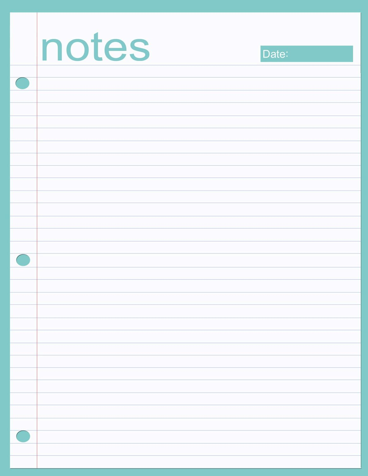 Printable notes page | Planners | Pinterest | Notes, Printables