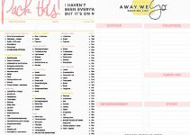 printable packing checklist packinglists2