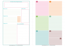 printable planner pages weekly two page spread