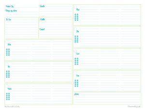 photo relating to Weekly Agenda Printable referred to as Printable Planner Sheets area