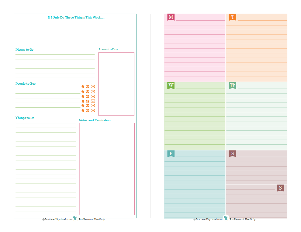 printable planner pages   Yelom.agdiffusion.com