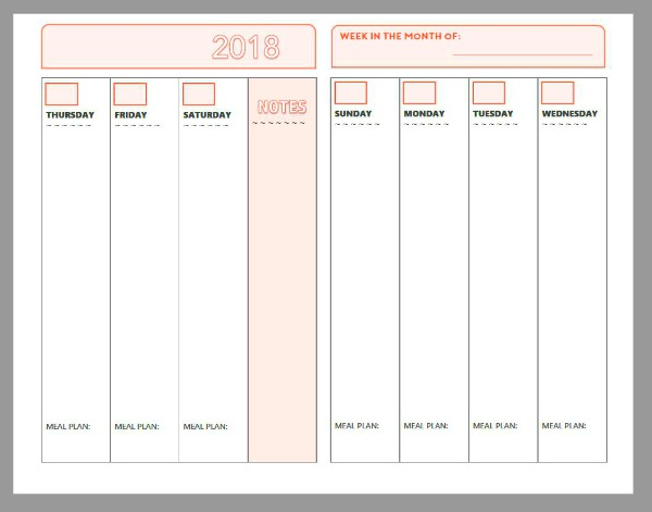 2018 Free Printable Planner Pages   The Make Your Own Zone