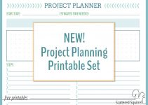 printable planning project planning printables