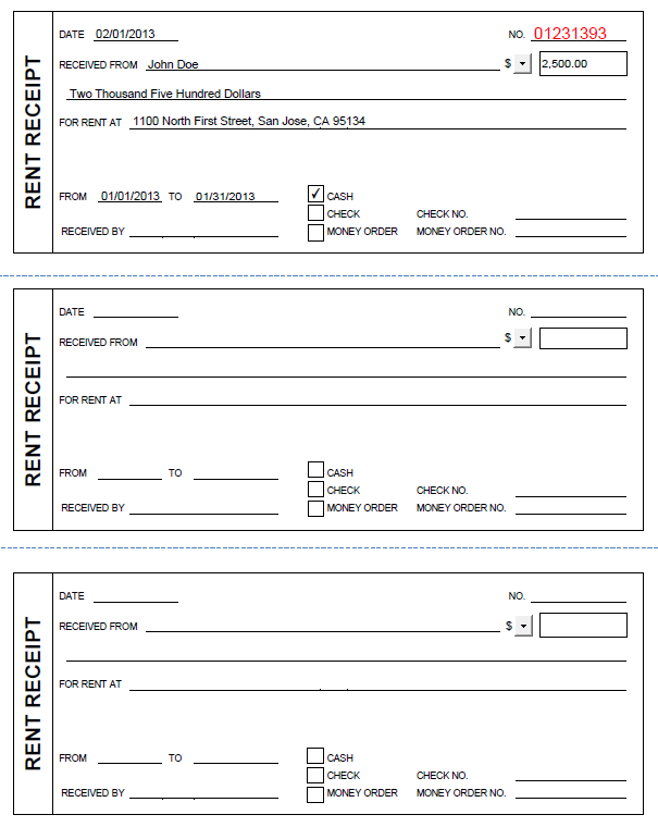 free printable rent receipt template printable rent receipt in pdf
