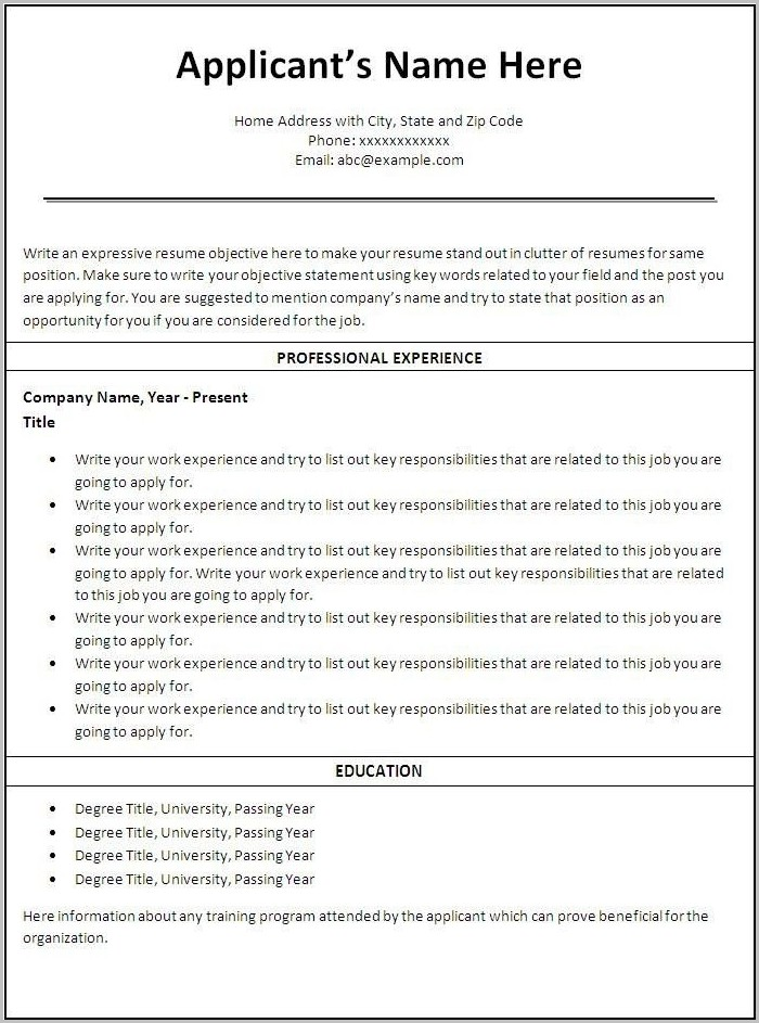 printable resume template free printable resume template rapid