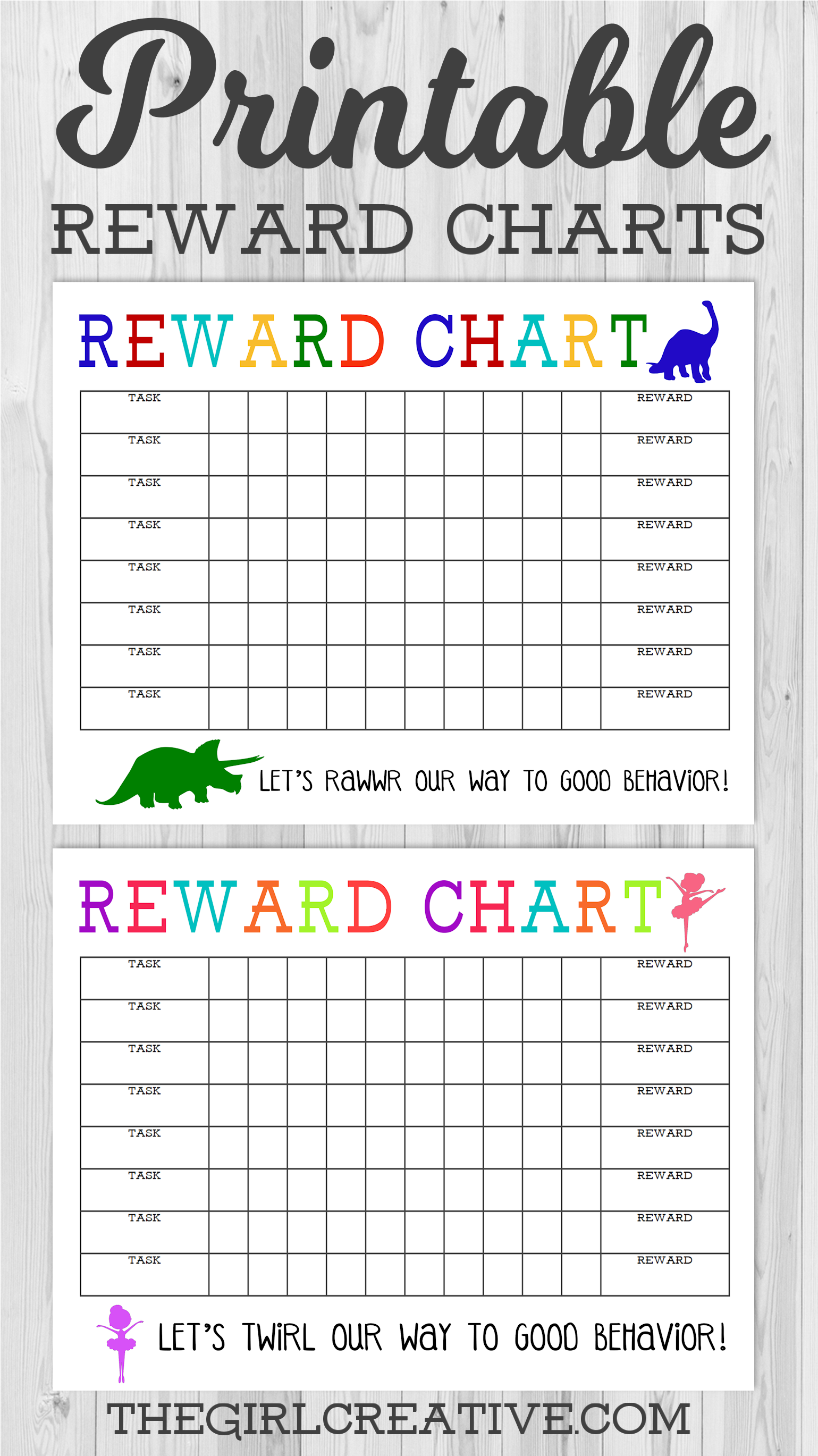 Printable Reward Chart   The Girl Creative