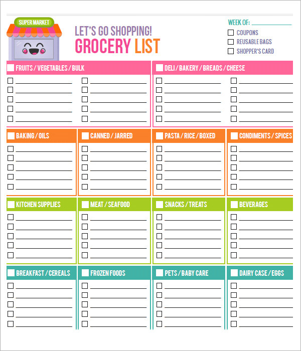 Free Printable Grocery List and Meal Planner | Organization