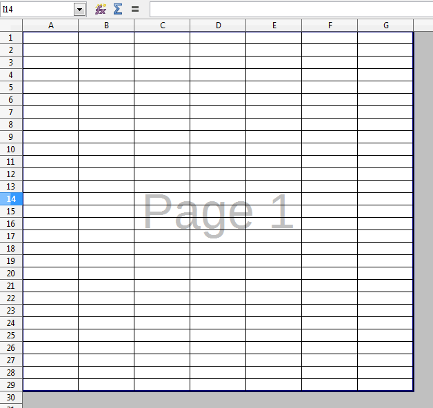 How can I get the gridlines to print on the whole spreadsheet