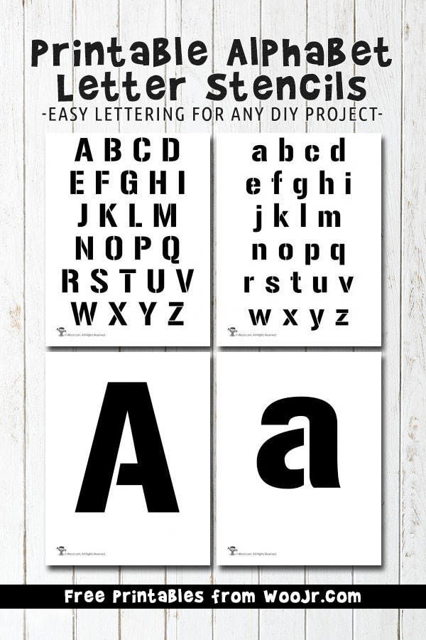 Printable Alphabet Letter Stencils | Woo! Jr. Kids Activities