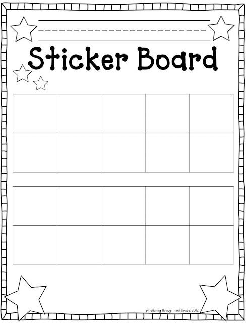 picture relating to Sticker Reward Chart Printable referred to as Printable Sticker Chart place