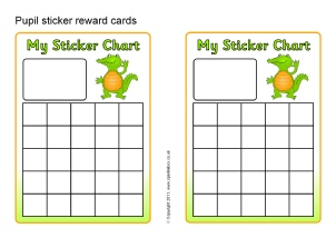 Printable Primary School Sticker Charts   SparkleBox