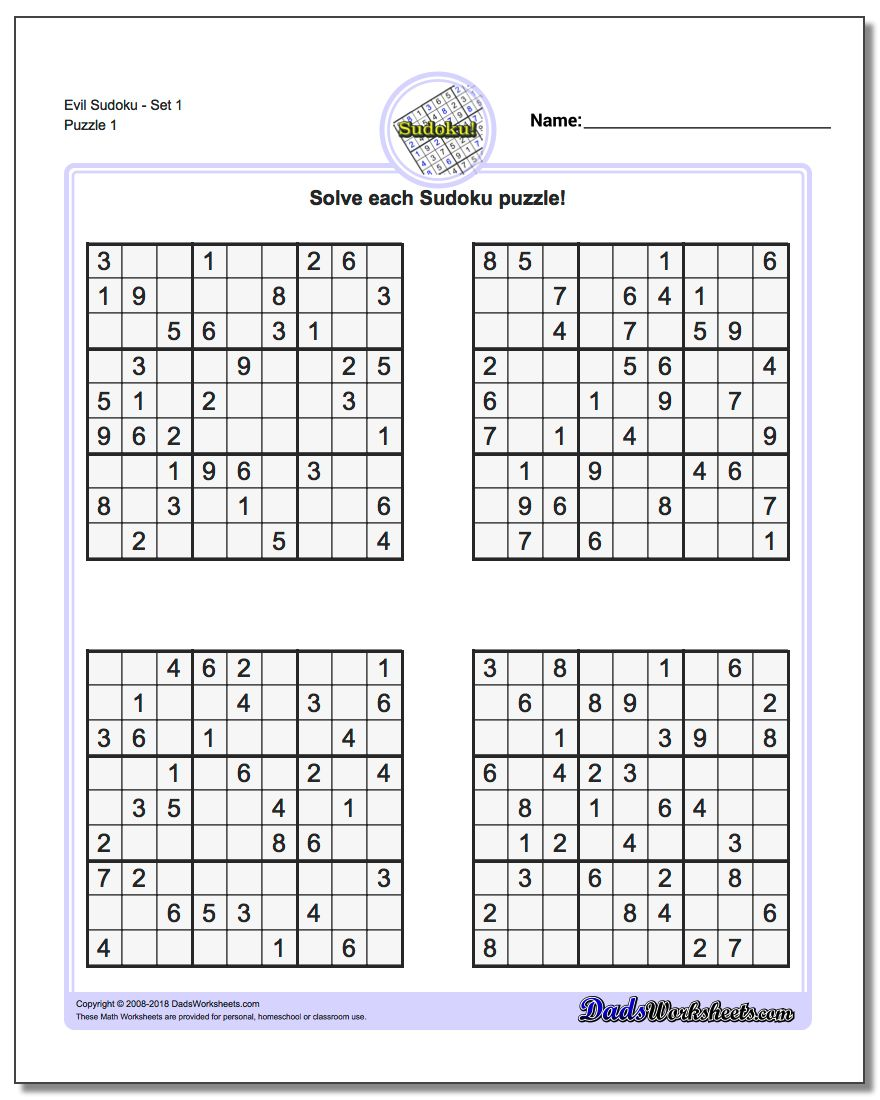 sudoku sheets   Keni.ganamas.co