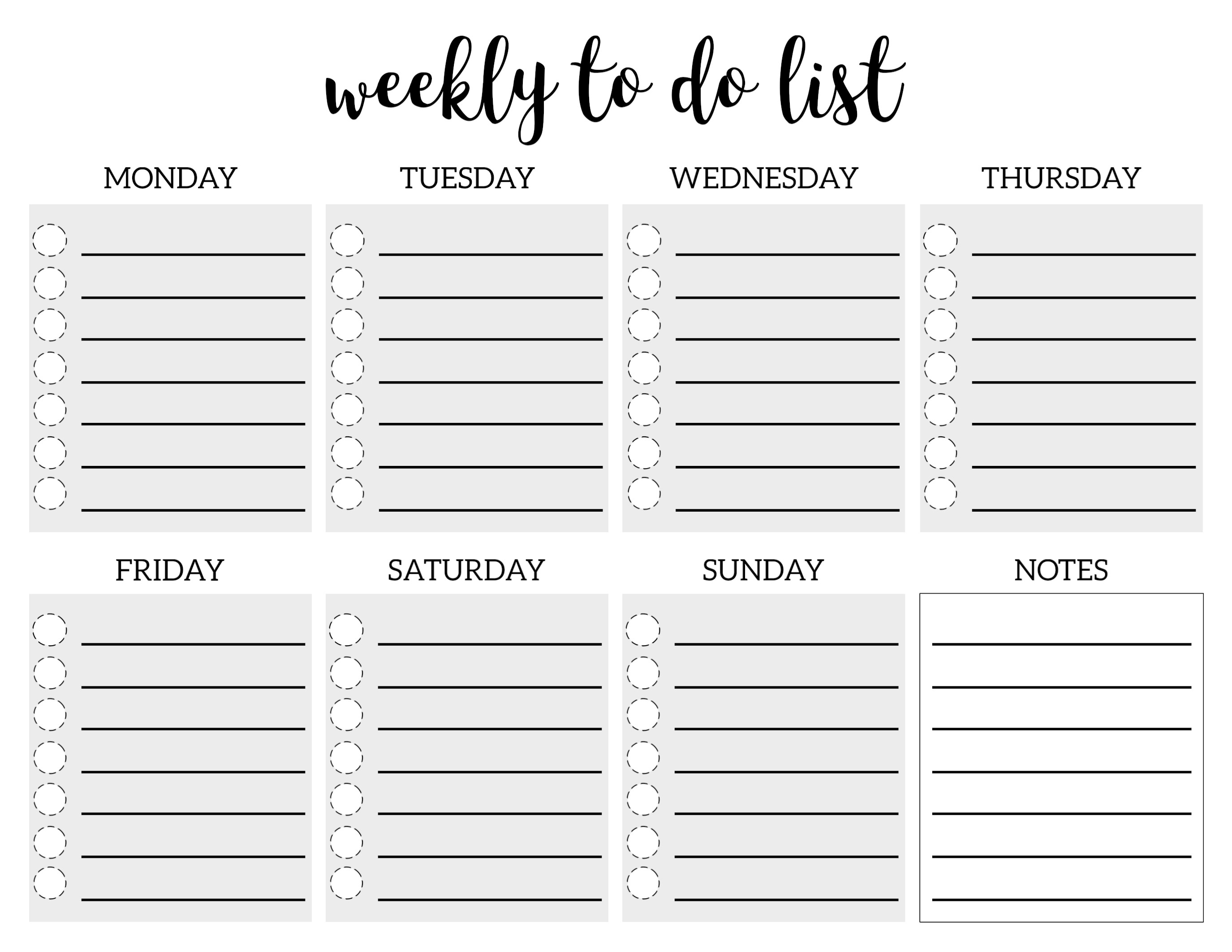 Free Printable To Do List Template | Making Notebooks | Pinterest
