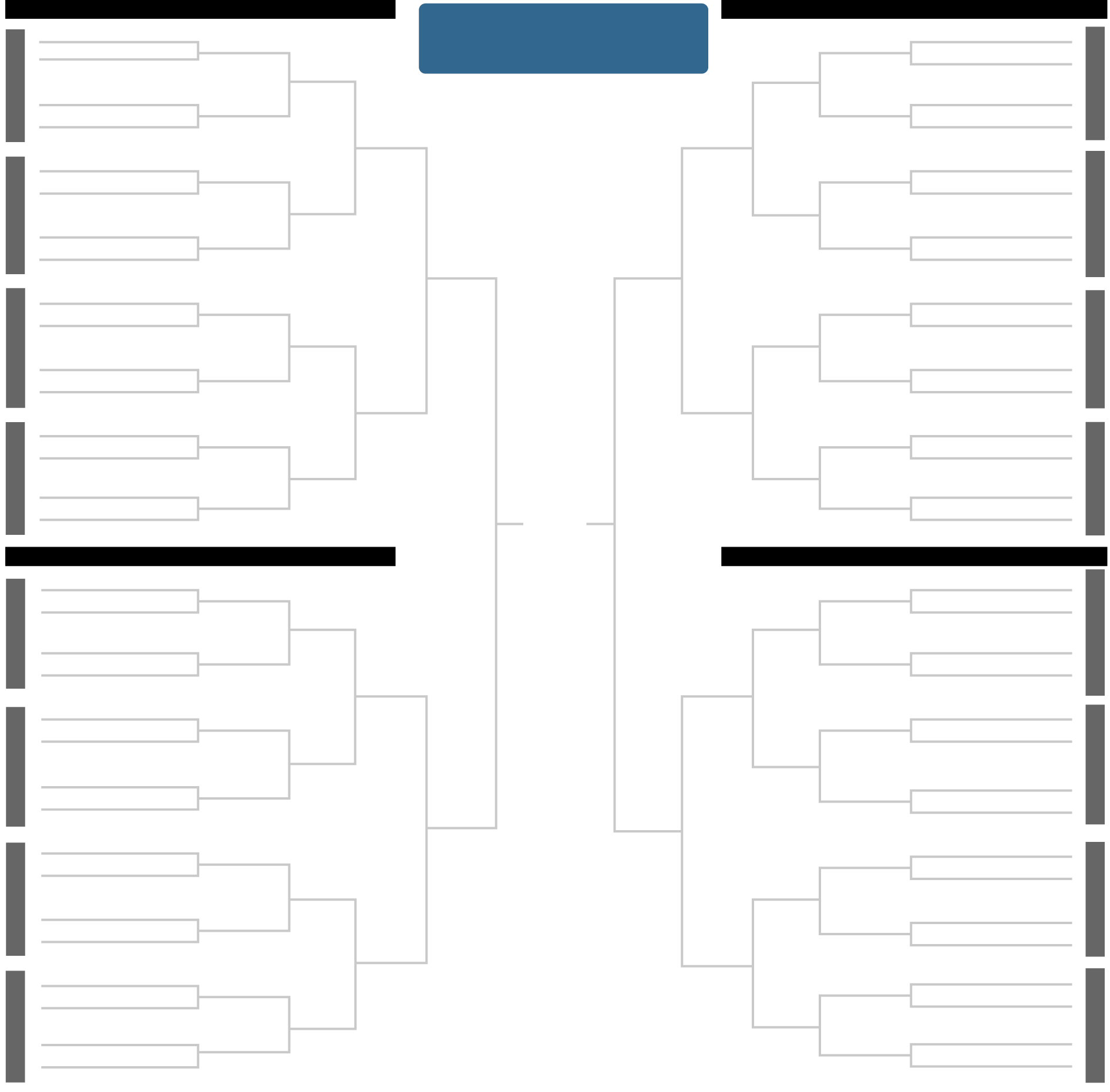 Printable 2018 N.C.A.A. Men's Tournament Bracket   The New York Times