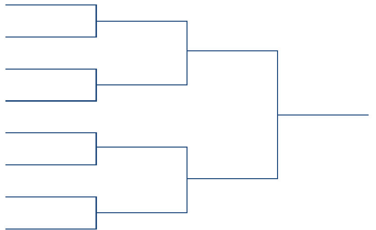 8 Team Single Elimination Printable Tournament Bracket