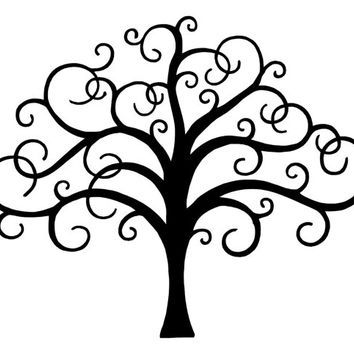 Printable Family Tree Stencils | Birds Branch Tree Stencil Wall