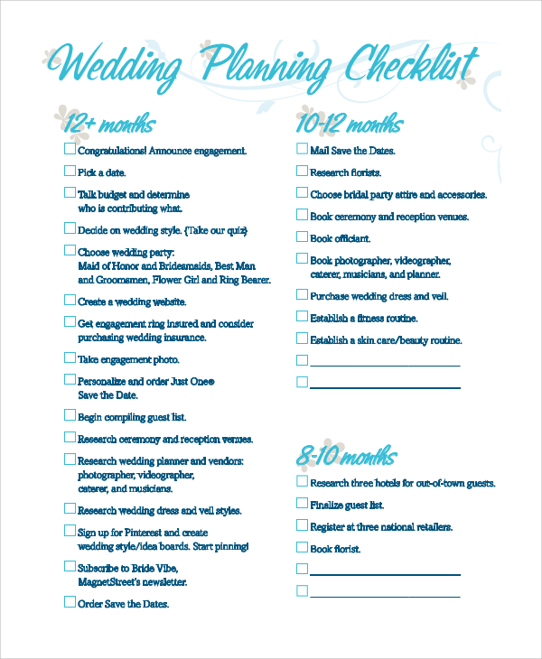 wedding checklist pdf   Yelom.agdiffusion.com