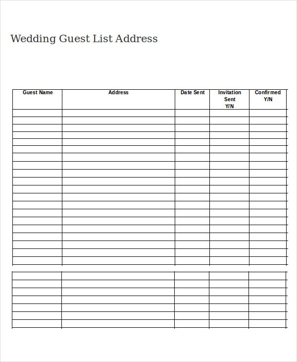 photograph about Free Printable Wedding Planner Workbook Pdf identified as Printable Wedding day Visitor Lists place