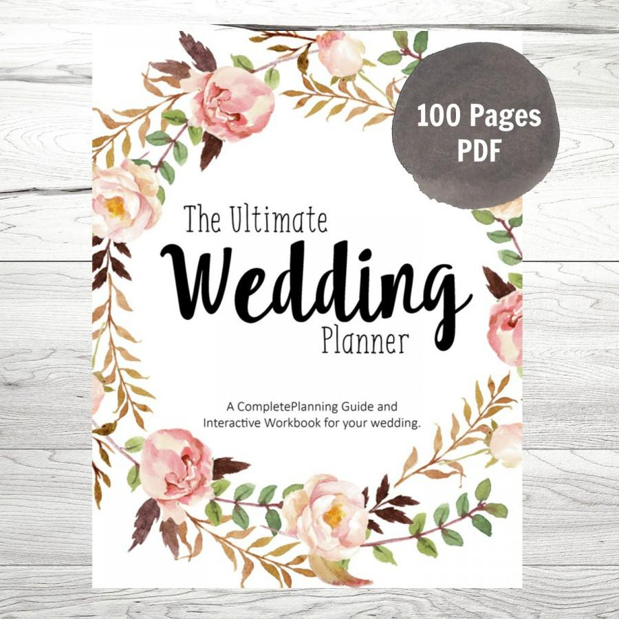 graphic regarding Free Printable Wedding Planner Workbook Pdf titled Printable Wedding ceremony Planner Pdf place