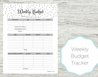 Track your weekly spending with this free printable weekly budget