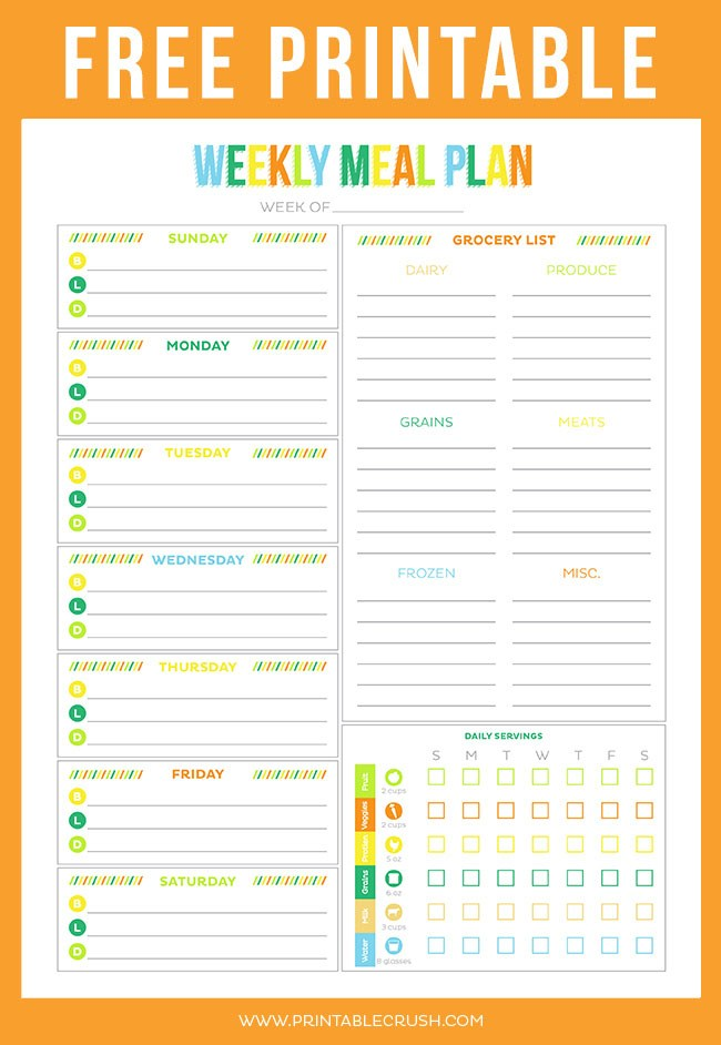 graphic regarding Printable Meal Calendar identified as Printable Weekly Dinner Planner area