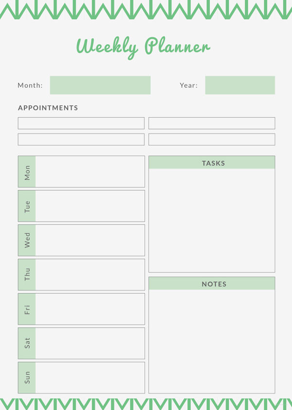 Printable Weekly Planner   9+ Free PDF Documents Download | Free