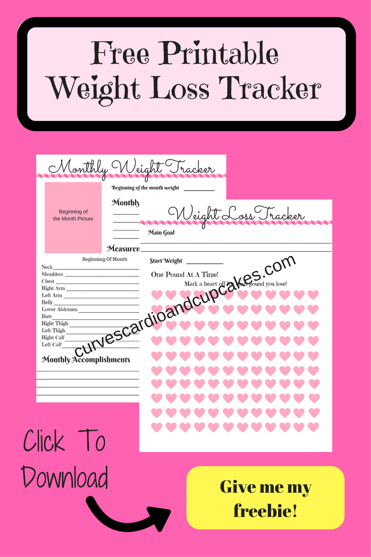 Weight Loss Tracker Printable for Bullet by StationaryConcepts