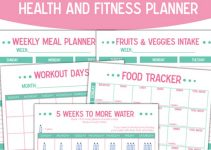 printable workout planner health and fitness planner