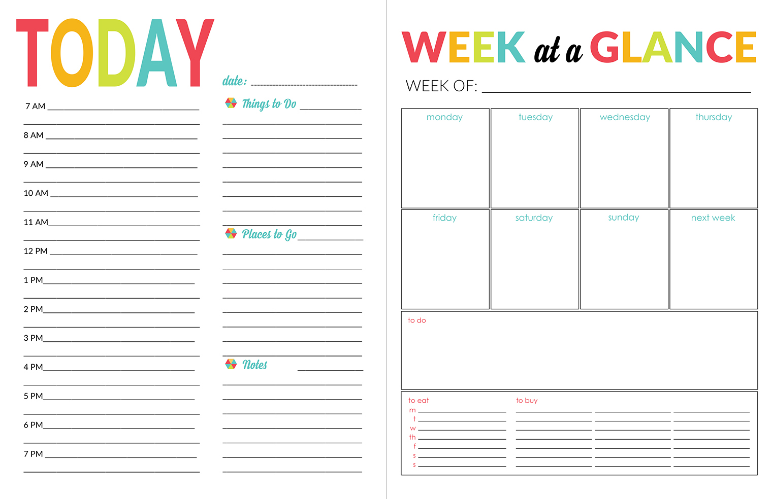 School Year Organizer & Planner Printable Pack   Yellow Bliss Road