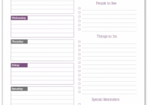 weekly planner printable deep lilac weekly overview planner 300x385