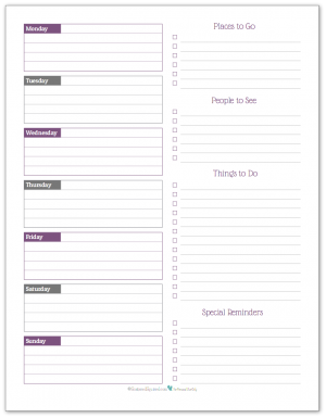 Free Printable Weekly Mom Planner | Home Decor Ideas