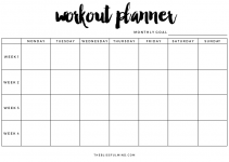 workout planner printable workout planner blank