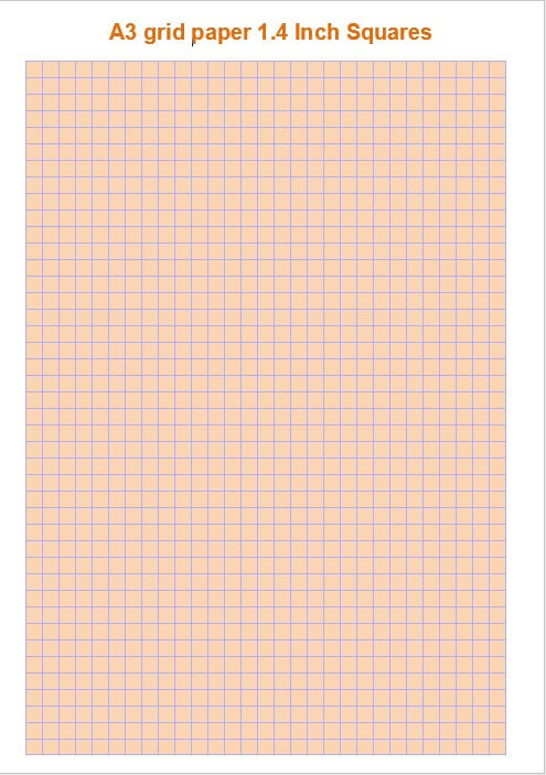 A3 grid paper 1.4 Inch Squares