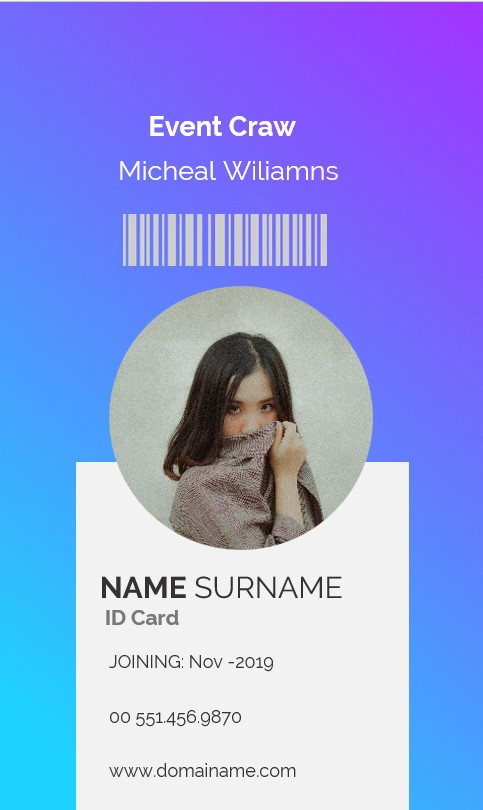 Event Craw Id Card Template