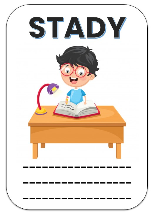 Stady flash cards template