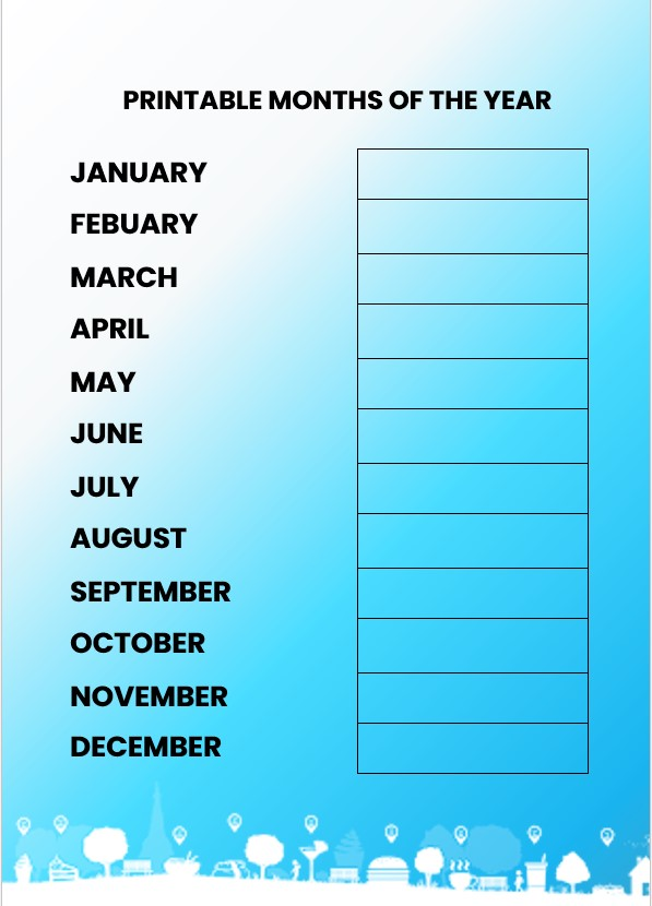 color months of the year