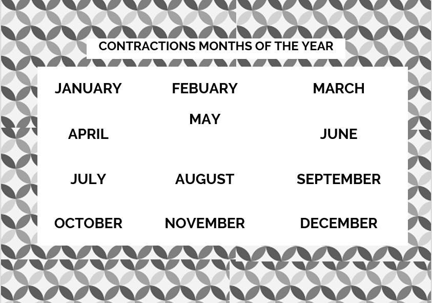 simple months of the year
