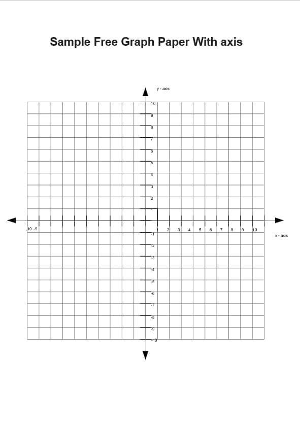 Sample Free Graph Paper with axis