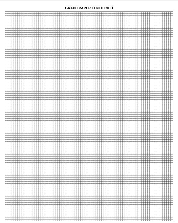 graph paper tenth inch