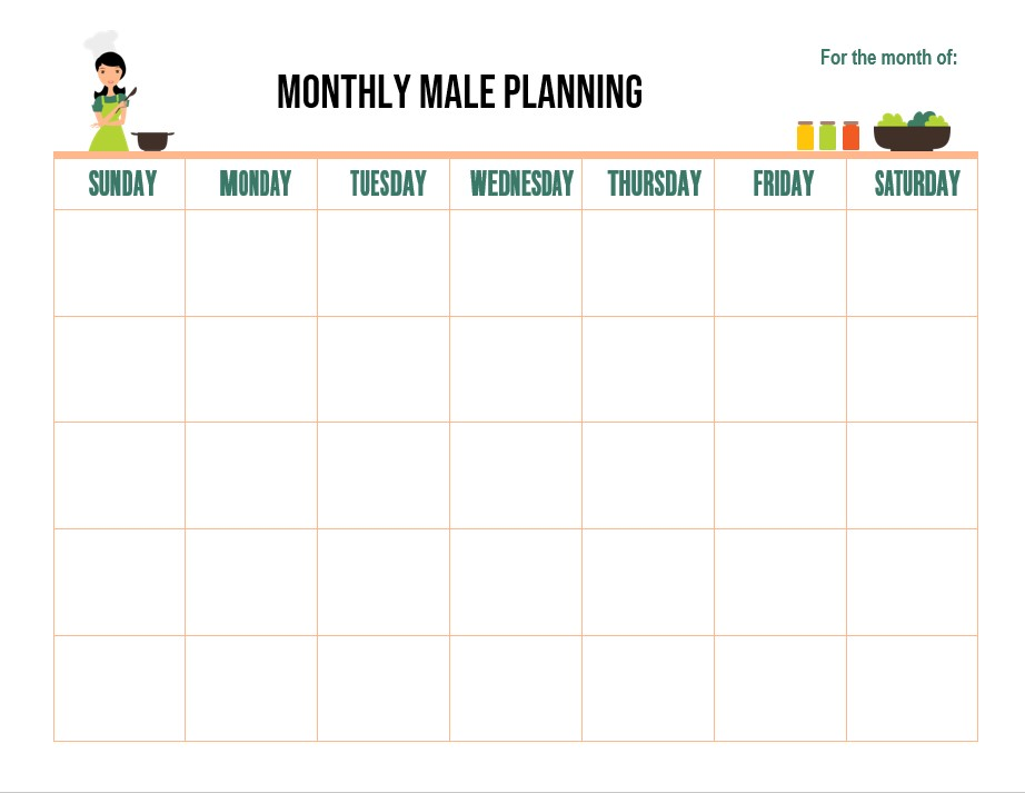 Downloadable Meal Planning Template
