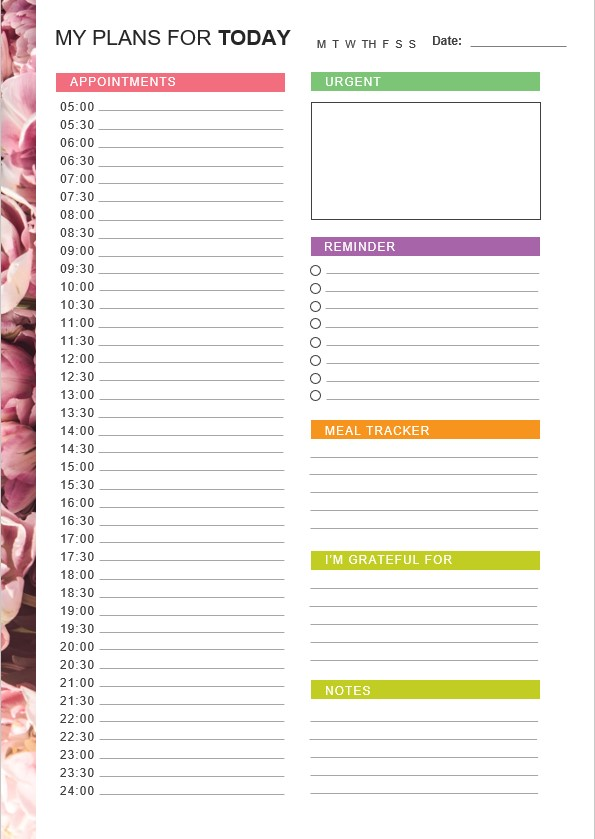 My Daily Planner Template